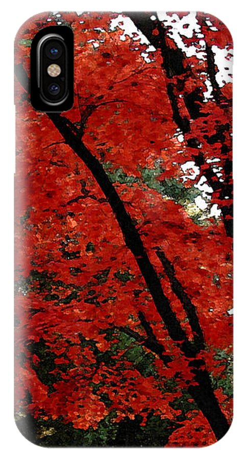 Autumn IPhone X Case featuring the photograph Autumn In New England by Melissa A Benson