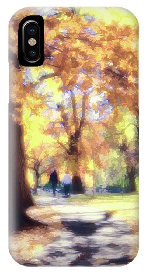 Autumn IPhone X Case featuring the photograph Autumn In The Park by Jeannine Walker