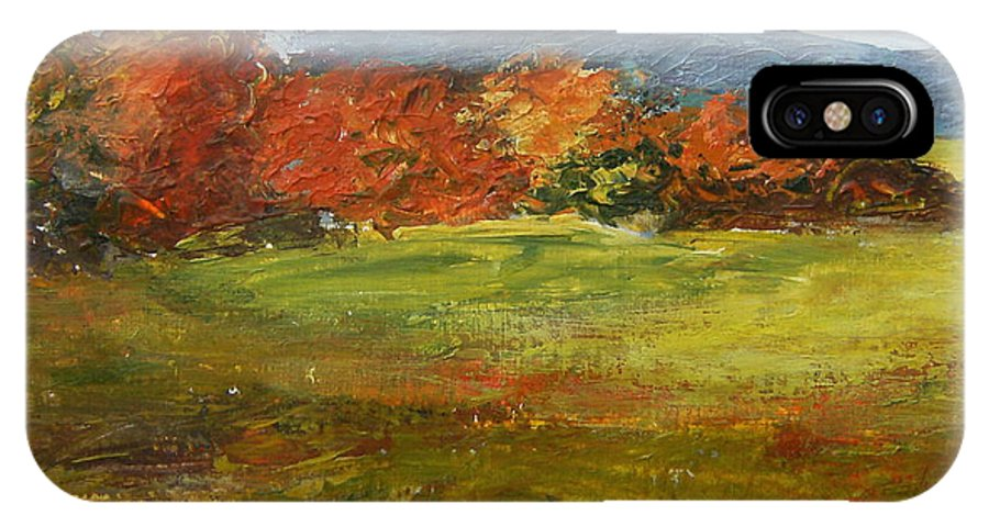 Landscape IPhone Case featuring the painting Autumn Is Here by Tami Booher