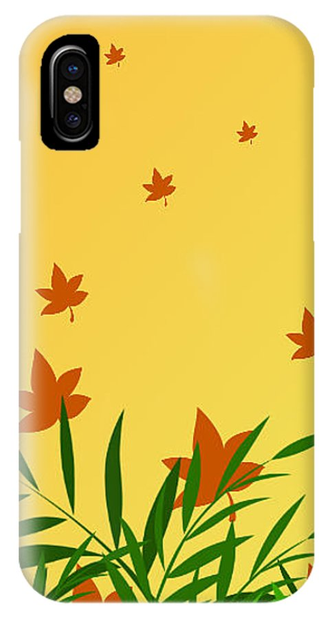 Autumn IPhone X / XS Case featuring the digital art Autumn Love by Rabia Shabbir