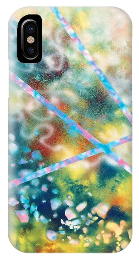 Abstract IPhone X Case featuring the painting Autumn by Micah Guenther