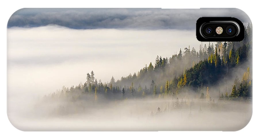 Fog IPhone X Case featuring the photograph Autumn Morn by Mike Dawson