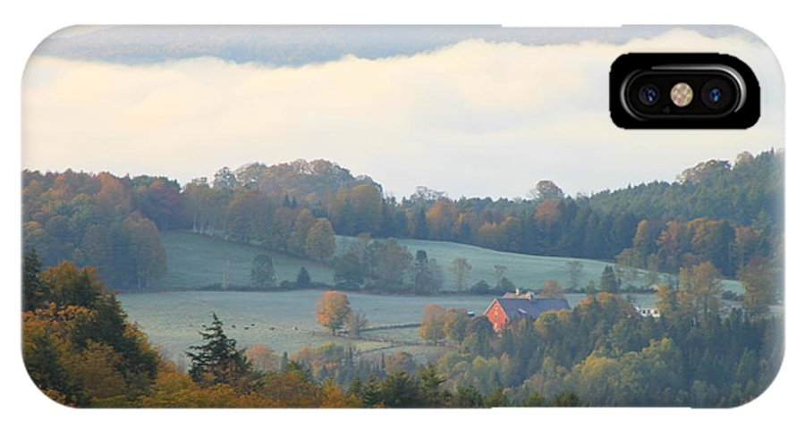 Autumn IPhone X / XS Case featuring the photograph Autumn Morning In Peacham Vermont by John Burk