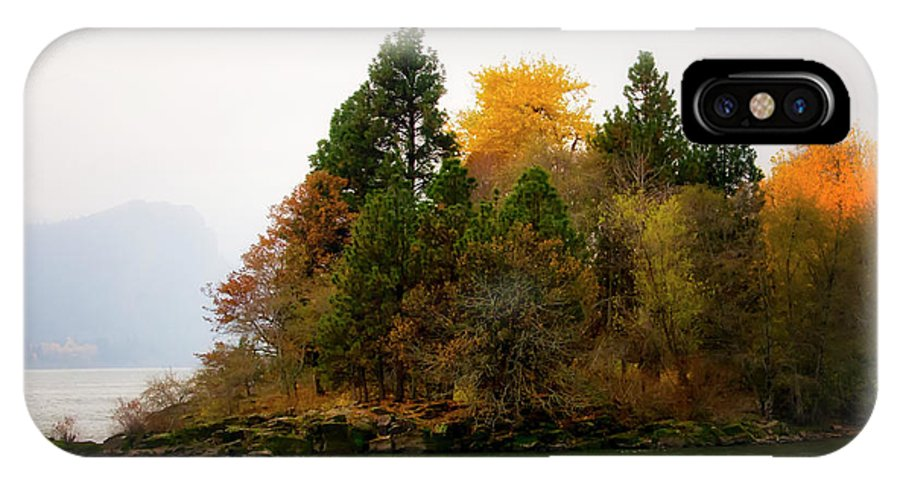 IPhone X Case featuring the photograph Autumn On The Columbia by Albert Seger