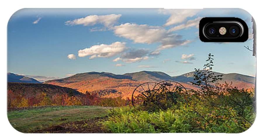 Autumn IPhone X Case featuring the photograph Autumn On The Farm Panorama by Chris Whiton
