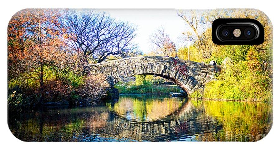 Park IPhone X / XS Case featuring the photograph Autumn Park by Anna Serebryanik