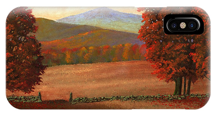 Autumn IPhone Case featuring the painting Autumn Pastures by Frank Wilson