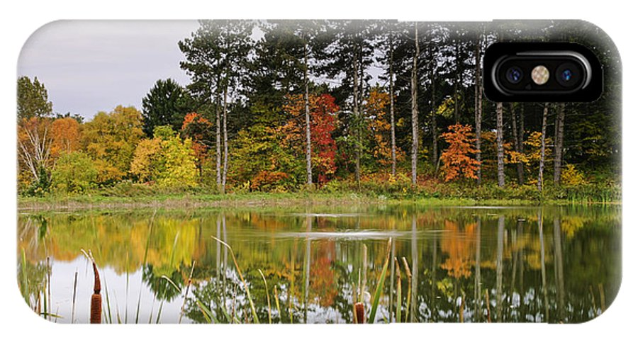 Fine Art IPhone X / XS Case featuring the photograph Autumn Pond by Phill Doherty