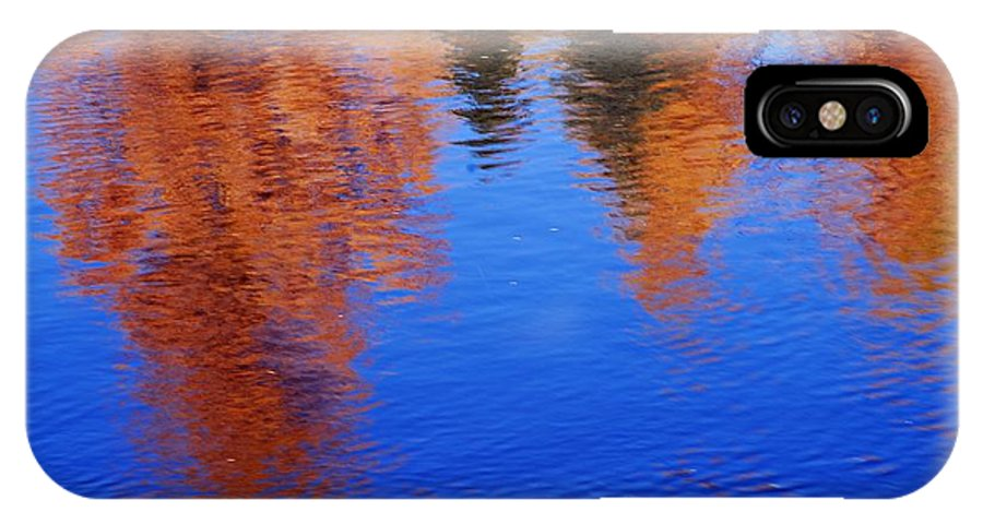Prince Albert National Park IPhone X / XS Case featuring the photograph Autumn Reflection by Larry Ricker