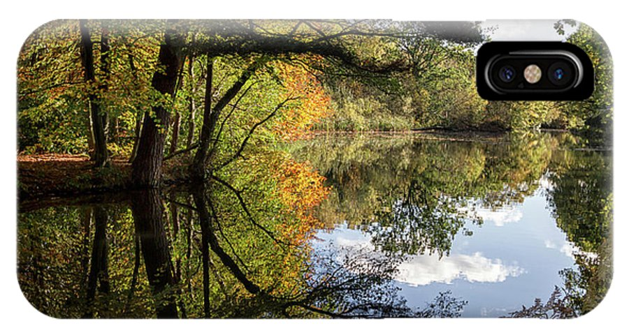 Autumn IPhone X Case featuring the photograph Autumn Reflections by Shirley Mitchell