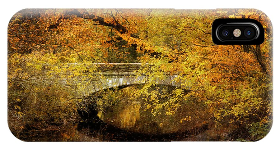 Nature IPhone X Case featuring the photograph Autumn River Views by Jessica Jenney