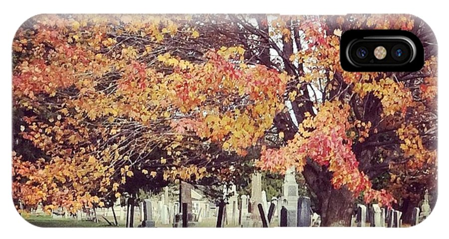 Landscape IPhone X Case featuring the photograph Autumn Serenity by Sarah Campbell