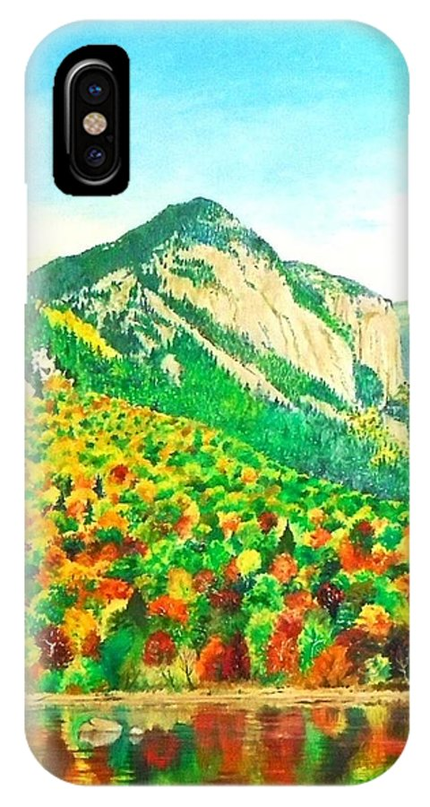 Fall IPhone X Case featuring the painting Autumn Song by Dhammika Bandara
