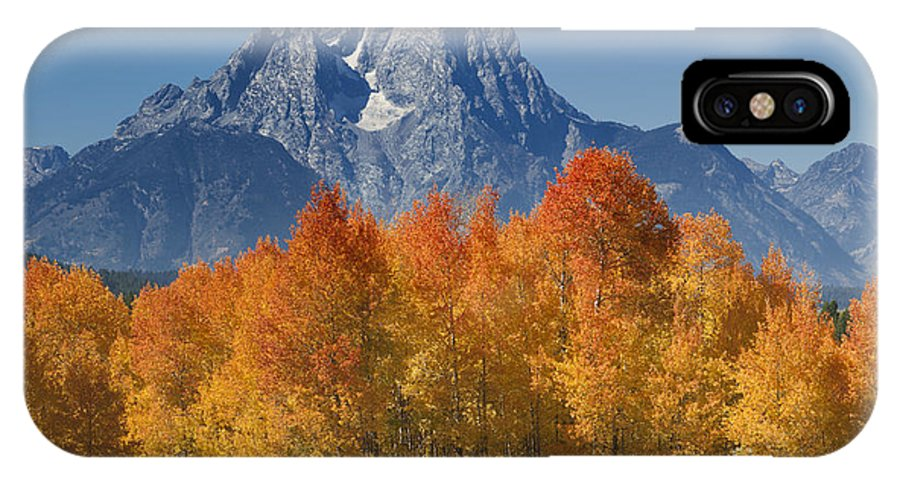 Grand Teton IPhone X / XS Case featuring the photograph Autumn Splendor In Grand Teton by Sandra Bronstein