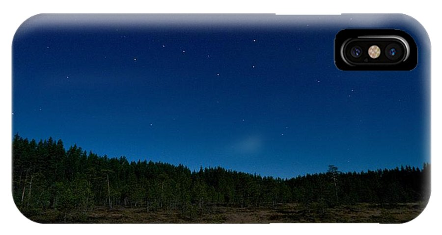 Lehtokukka IPhone X / XS Case featuring the photograph Autumn Stars by Jouko Lehto