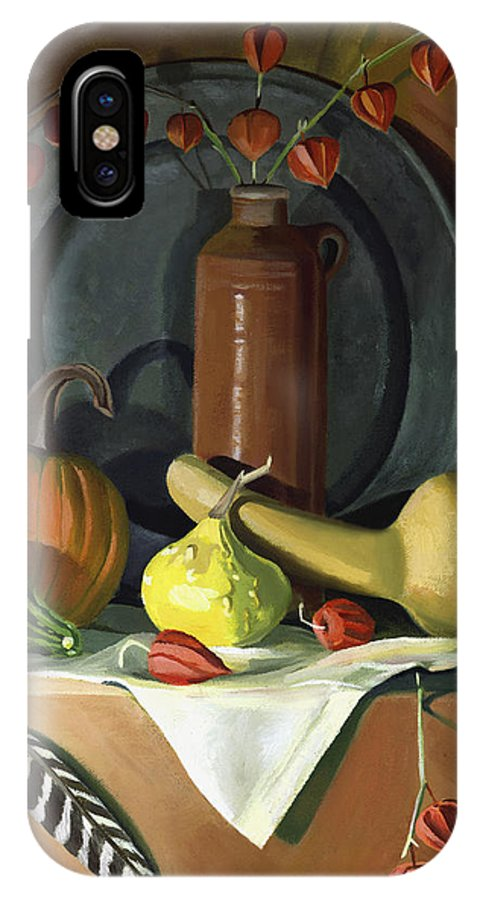Still Life IPhone Case featuring the painting Autumn Still Life by Nancy Griswold