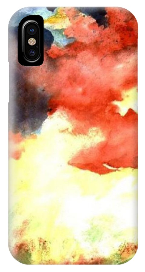 Autumn IPhone X Case featuring the painting Autumn Storm by Andrew Gillette