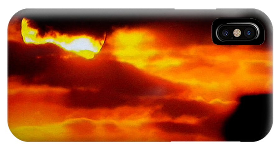 Colette IPhone X Case featuring the photograph Autumn Sunset Denmark by Colette V Hera Guggenheim