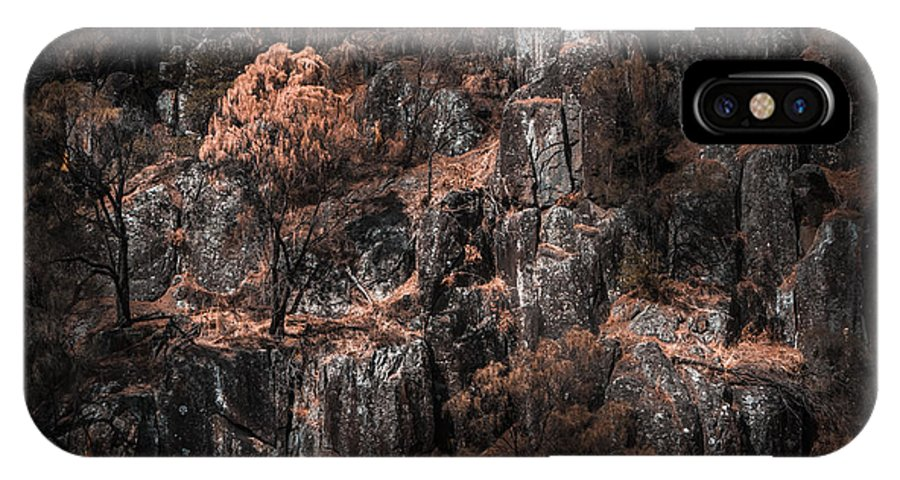 Autumn IPhone X / XS Case featuring the photograph Autumn Trees Growing On Mountain Rocks by Jorgo Photography - Wall Art Gallery