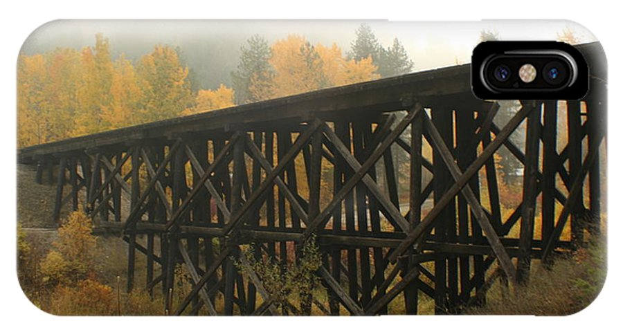 Trestle IPhone X Case featuring the photograph Autumn Trestle by Idaho Scenic Images Linda Lantzy