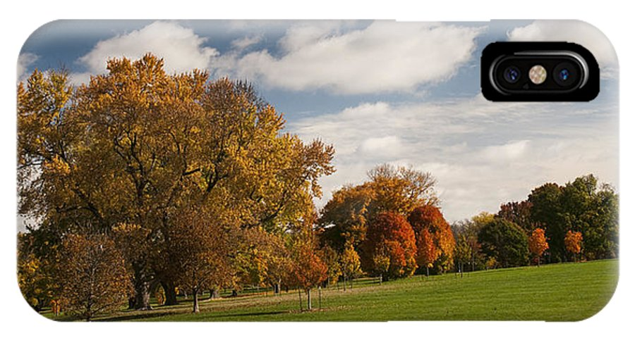 Autumn IPhone X Case featuring the photograph Autumn Under The Sky by Chad Davis