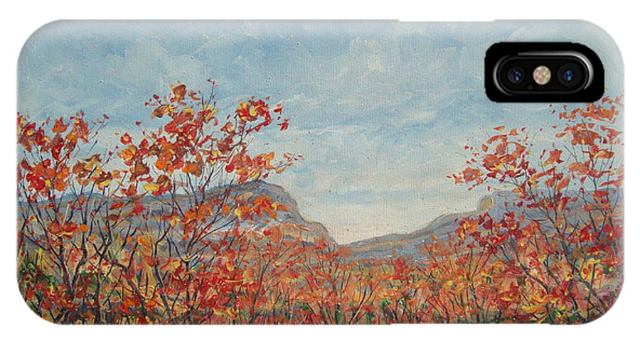 Paintings IPhone X Case featuring the painting Autumn View. by Leonard Holland