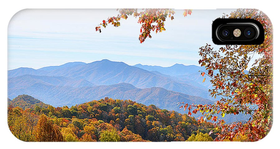 Fall IPhone X / XS Case featuring the photograph Autumn View Of The Smokies by Alan Lenk