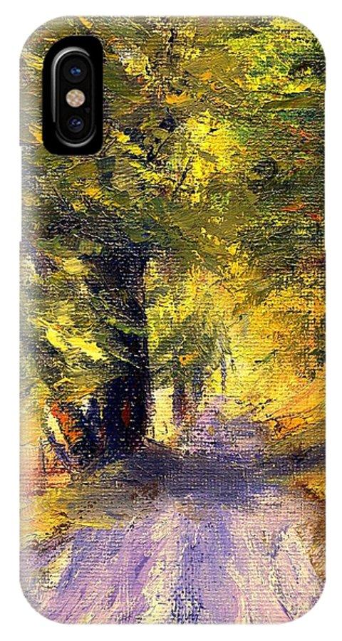 Autumn IPhone Case featuring the painting Autumn Walk by Gail Kirtz