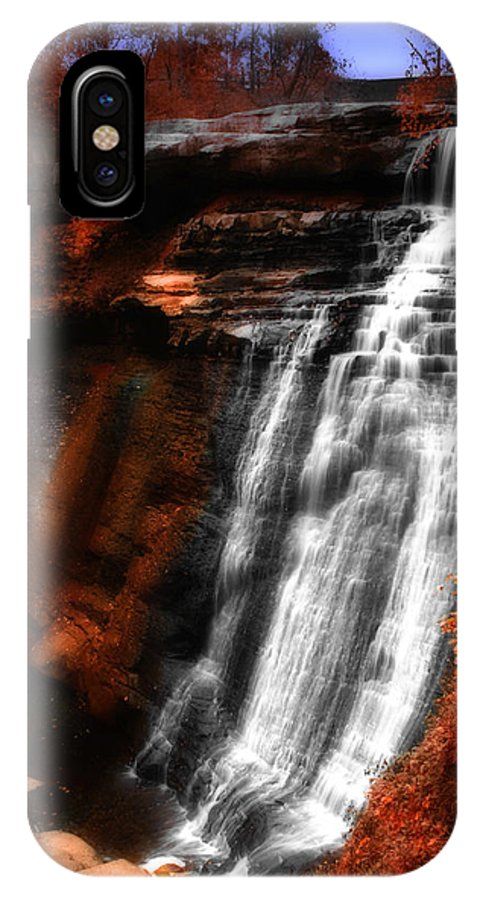 Autumn IPhone Case featuring the photograph Autumn Waterfall 3 by Kenneth Krolikowski