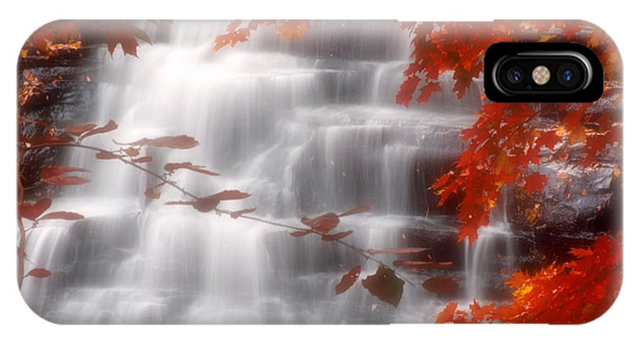 Autumn IPhone X Case featuring the photograph Autumn Waterfall I by Kenneth Krolikowski