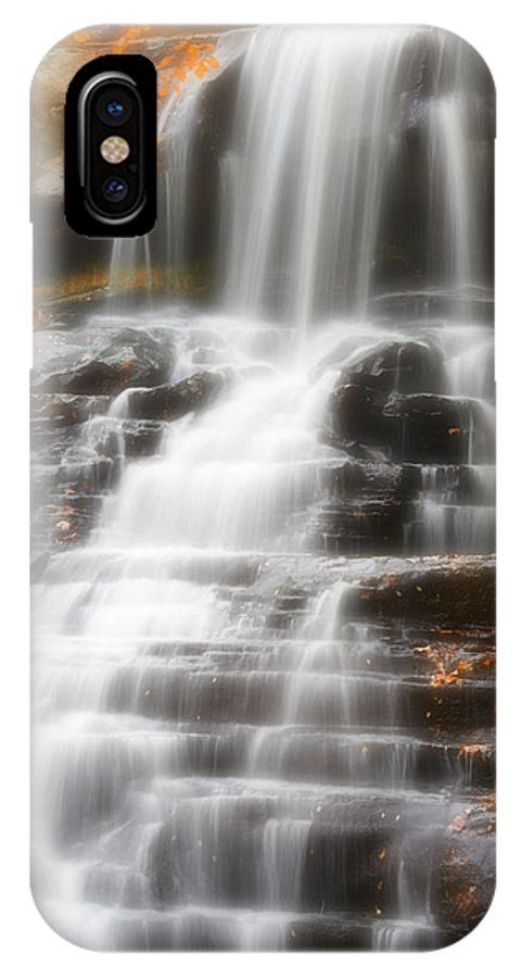 Autumn IPhone X Case featuring the photograph Autumn Waterfall II by Kenneth Krolikowski