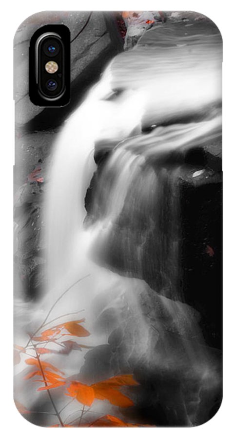 Autumn IPhone X Case featuring the photograph Autumn Waterfall Iv by Kenneth Krolikowski