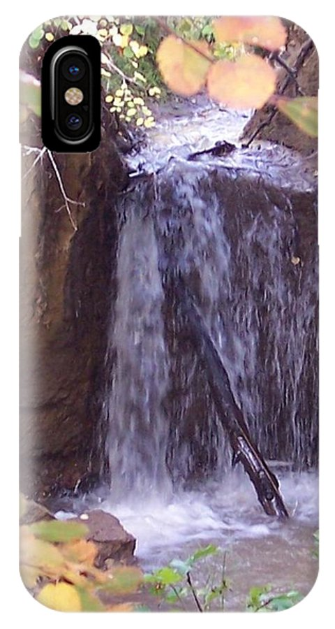 Autumn IPhone X Case featuring the photograph Autumn Waterfall by Tina Barnash