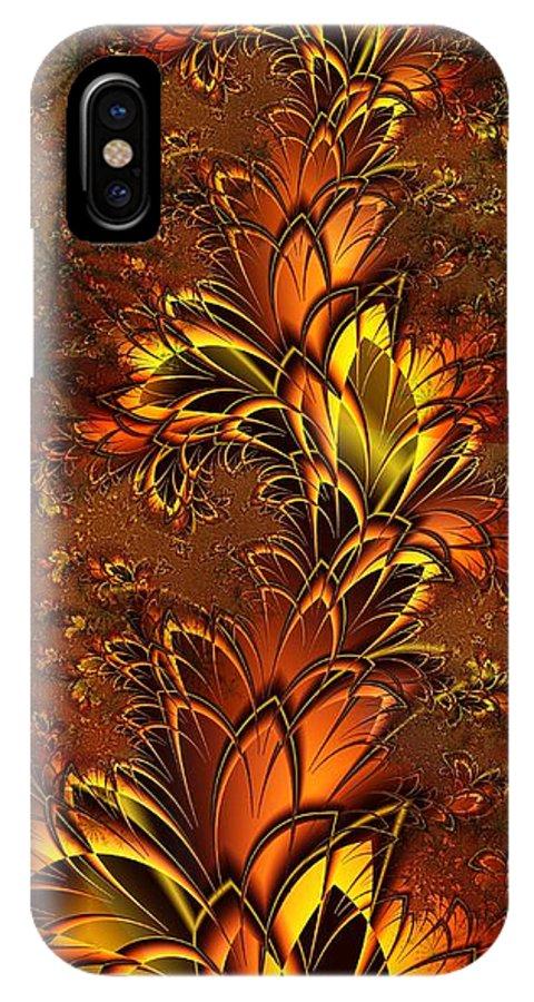Digital Art IPhone X Case featuring the digital art Autumnal Glow by Amanda Moore
