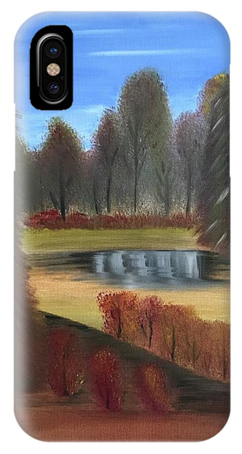 Autumn IPhone X Case featuring the painting Autumn's Arrival by Dani Keating