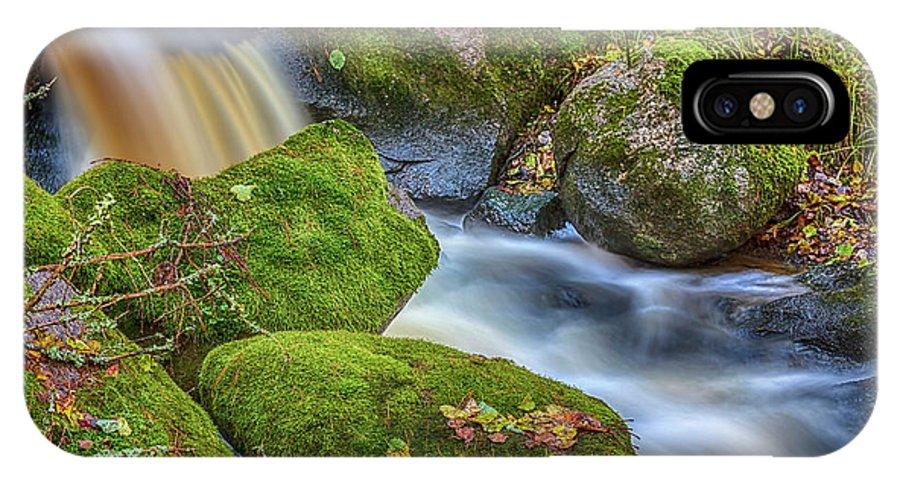 Atmosphere IPhone X Case featuring the photograph Autumn's Creek 2 by Veikko Suikkanen