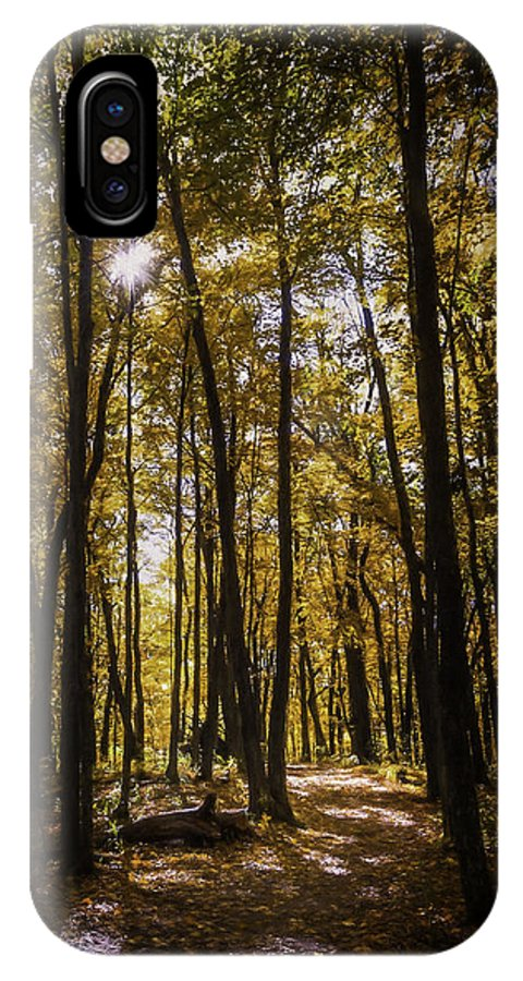 Autumn IPhone X Case featuring the photograph Autumns Fire by Scott Norris