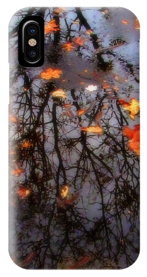 Tree IPhone X Case featuring the photograph Autumns Looking Glass 3 by September Stone