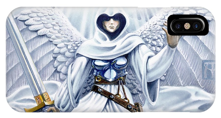 Angel IPhone X Case featuring the painting Avenging Angel by Melissa A Benson