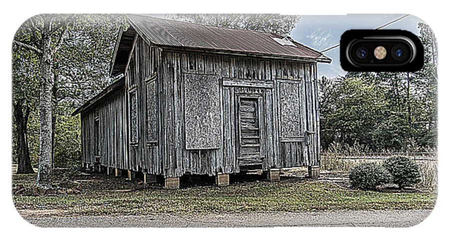 Avinger IPhone X Case featuring the photograph Avinger Depot by Darrell Clakley