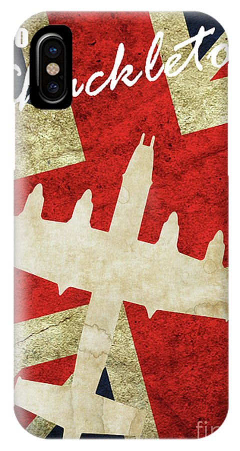 Avro Shackleton IPhone X Case featuring the digital art Avro Shackleton Vintage by Airpower Art