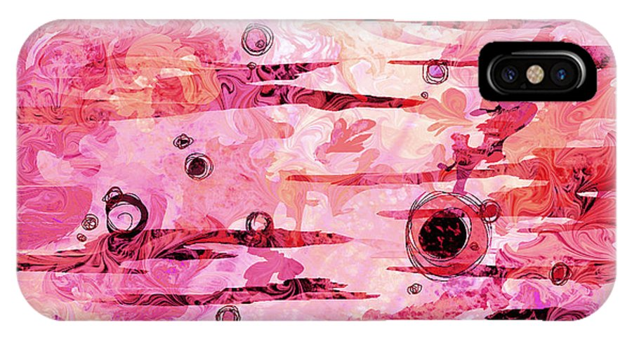 Abstract IPhone X Case featuring the digital art Awakened by Rachel Christine Nowicki
