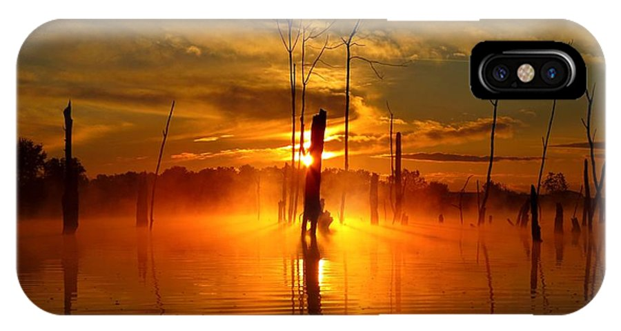Water IPhone X Case featuring the photograph Awakened To Calm by William Caine