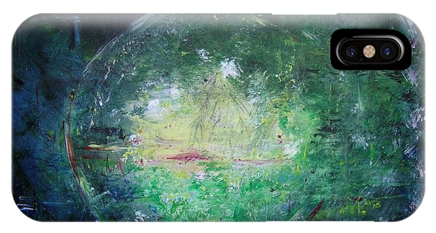 Abstract IPhone X / XS Case featuring the painting Awakening Abstract II by Lizzy Forrester