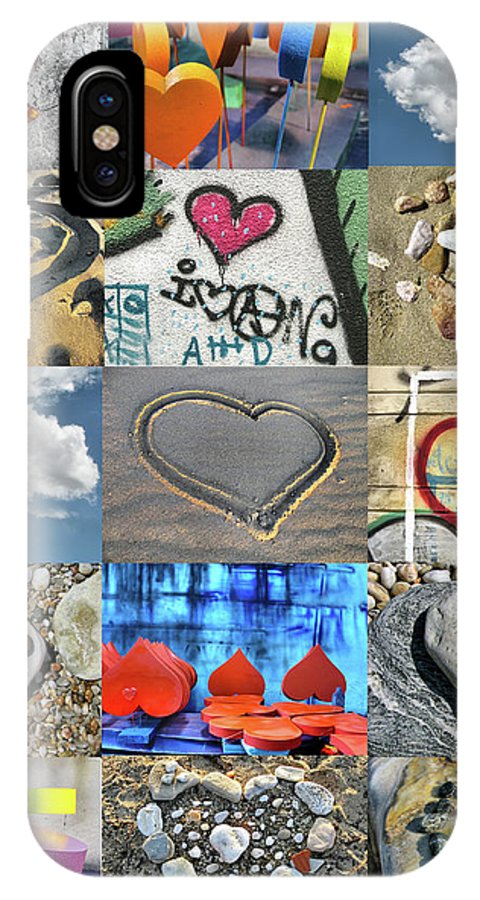 Heart IPhone X Case featuring the photograph Awesome Hearts - Collage by Daliana Pacuraru