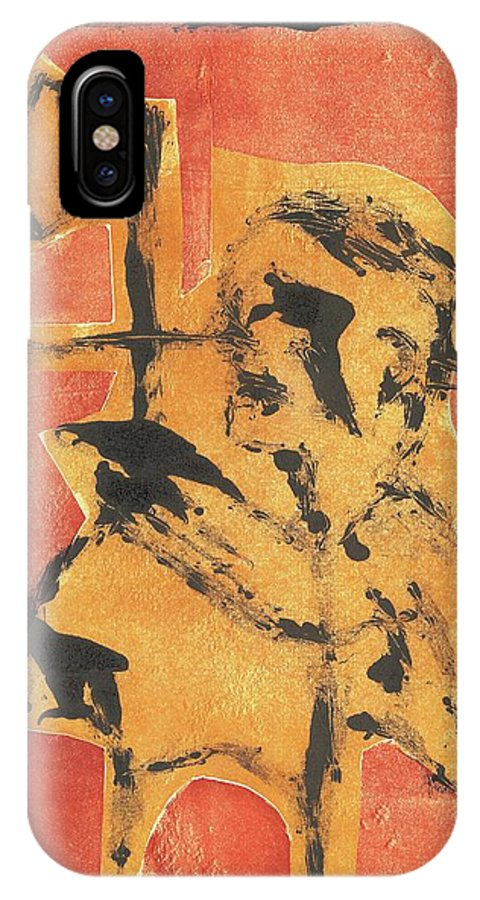 Axeman IPhone X Case featuring the relief Axeman 8 by Artist Dot