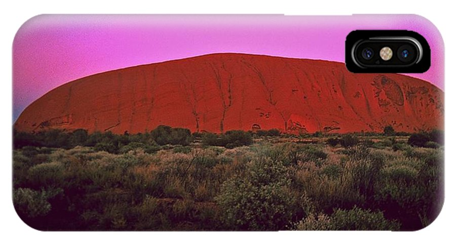 Australia IPhone X Case featuring the photograph Ayres Rock by Gary Wonning