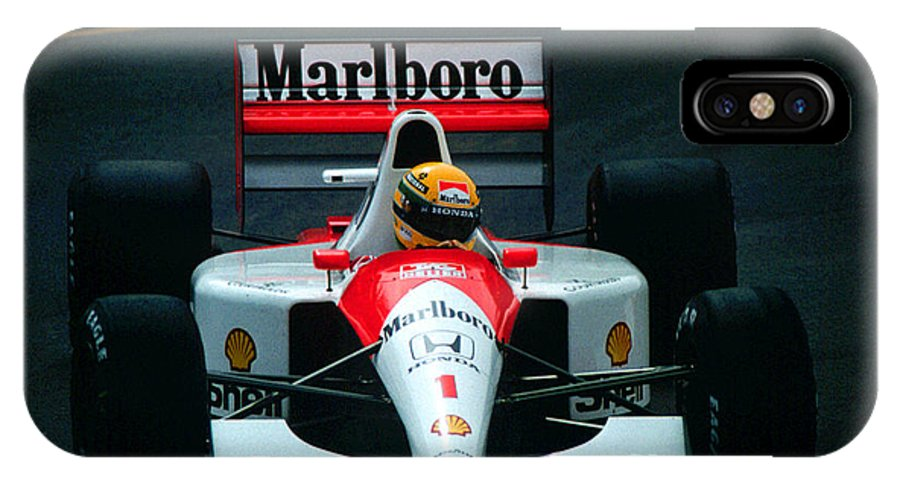 Words Fail Me ... He Is Sorely Missed. What A Great Ambassador For Racing And As A Human Being. IPhone X Case featuring the photograph Ayrton Senna 1 by Paolo Govoni
