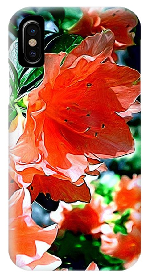 Fine Art IPhone Case featuring the painting Azaleas In The Spring by Patricia Griffin Brett