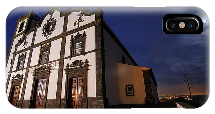 Catholic IPhone Case featuring the photograph Azorean Church At Night by Gaspar Avila